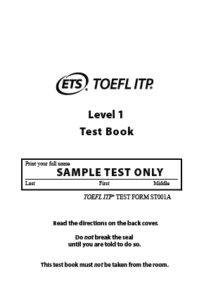 TOEFL ITP Sample Test